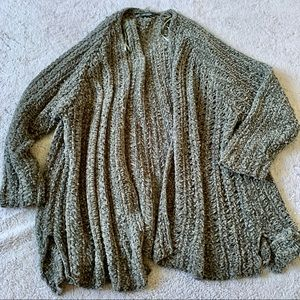 Wild Fable Sage Green Chenille Knit Cardigan  L